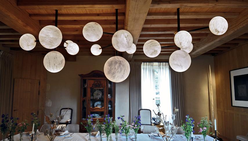 domaine des etangs botero chandeliers and luna. Black Bedroom Furniture Sets. Home Design Ideas